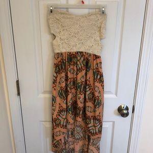 Strapless Windsor Hi Low dress